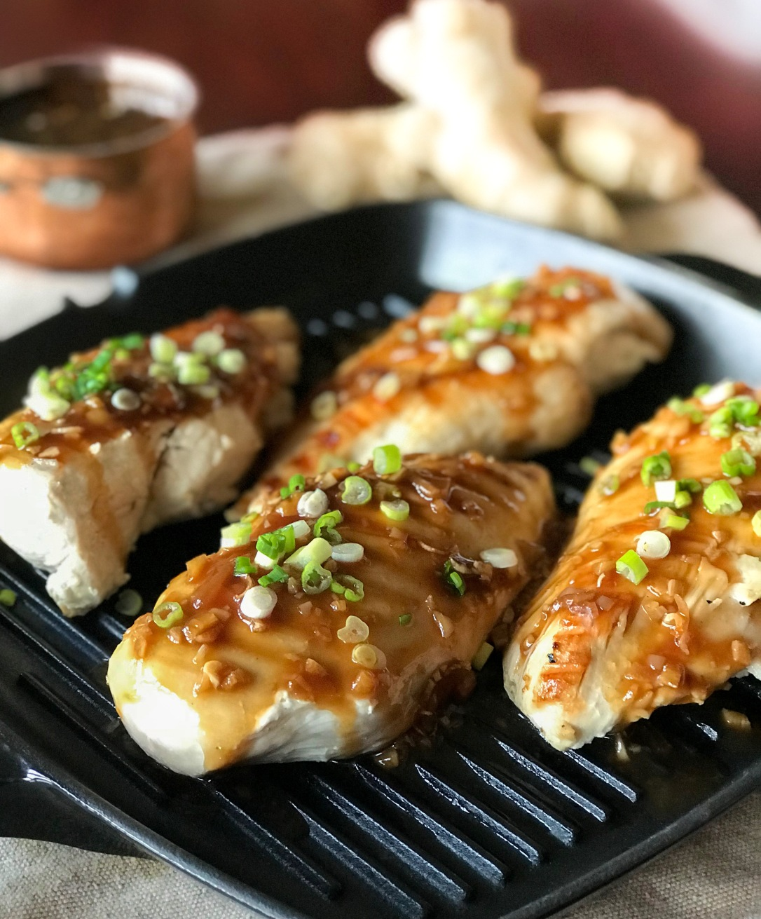 Honey-ginger glazed chicken3