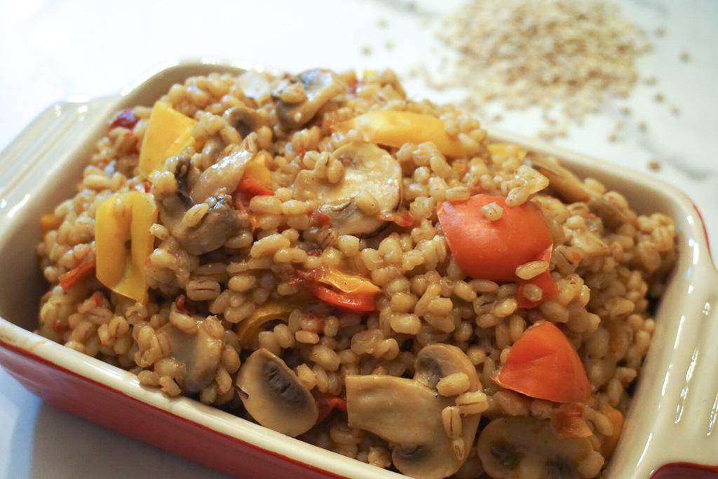 Mushroom Barley risotto2